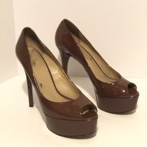 BRIAN ATWOOD Bambola Patent Leather Peep Toe Pump